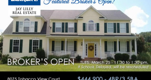 BROKER'S OPEN – Tuesday, March 25, 2014 – 11:30 – 1:30pm
